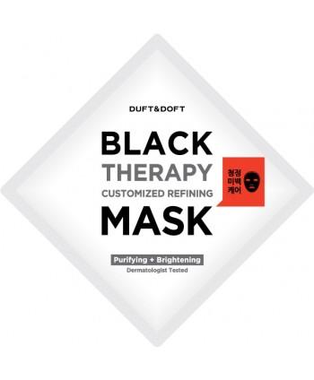 Maschera viso in foglio purificante e schiarente Black Therapy Duft & Doft