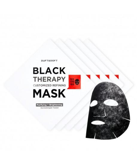 Maschera Viso in Foglio Purificante E Schiarente Black Therapy
