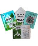 Pore-Care Therapy Mask Kit - Set Maskere Viso In Tessuto - Moodyskin