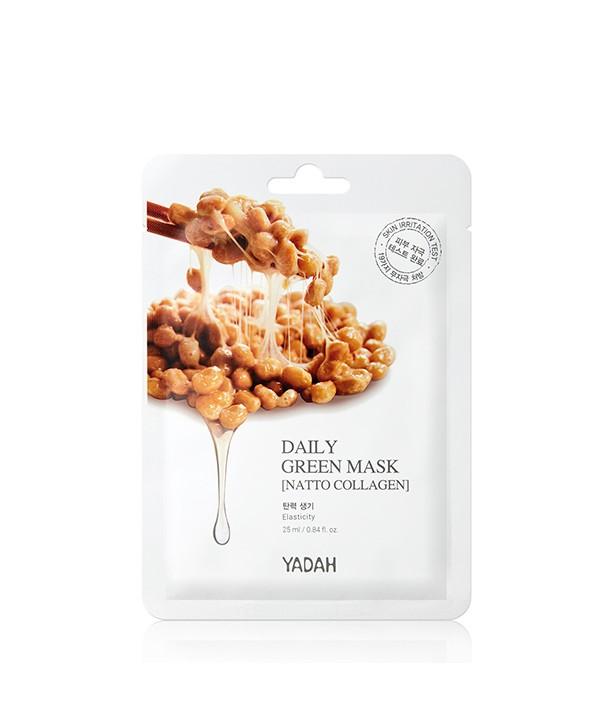 Yadah Daily Green Mask – Natto Collagen – Elasticity - 25 ml - Moodyskin