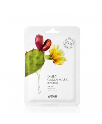 Yadah Daily Green Mask – Cactus – Moisturizing - 25 ml - Moodyskin