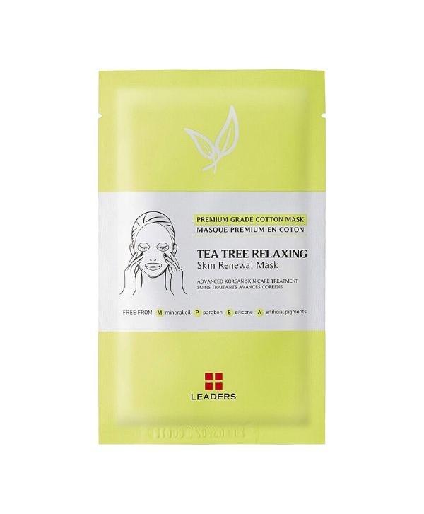 Leaders Tea Tree Relaxing Skin Renewal mask - 25 ml - Moodyskin