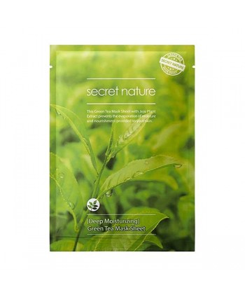 Secret Nature Deep Moisturizing Green Tea Mask Sheet 25 gr